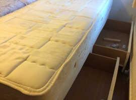 Single divan bed - sold