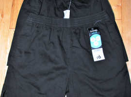 School Black P.E.Shorts X-2Pairs BRAND NEW NEVER BEEN WORN Aged 10-11yrs