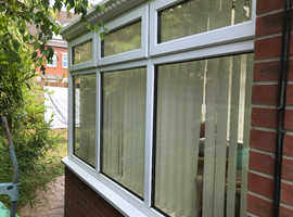 White upvc Victorian conservatory , 3m by 3m