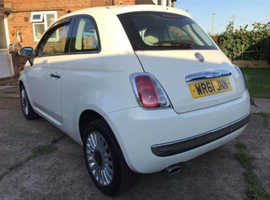 Fiat 500, 2011 (61) White Hatchback, Manual Petrol, 68,703 miles