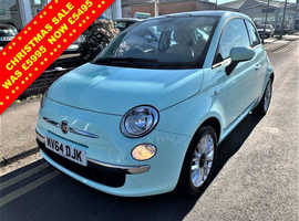 Fiat 500, 2014 (64) Green Hatchback, Manual Petrol, 31,636 miles