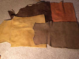 4 sheepskin pieces