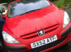 Peugeot 307, 2003 (52) Red Hatchback, Manual Petrol, 63,000 miles