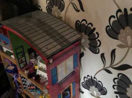 KIDDIKRAFT FIRE POLICE HOUSE PLAY GARAGE WOODEN