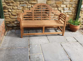 Luxury teak bench