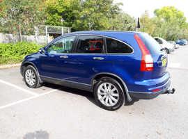 Honda CR-V, 2012 (61) blue estate, Manual Diesel, 87,350 miles