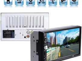 MP5 Double DIN Touch Screen Car Entertainment Unit