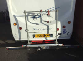 Heavy duty bike rack towbar