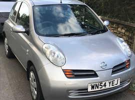 Nissan Micra, 2004 (54) Silver Hatchback, Manual Diesel, 28,000 miles