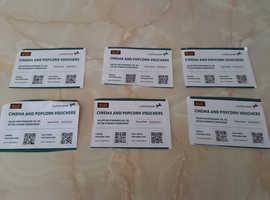 Vue Cinema tickets x 6 tickets