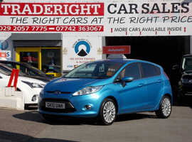 2010/10 Ford Fiesta 1.4 Titanium AUTOMATIC finished in Vision Blue Metallic. 67,318 miles