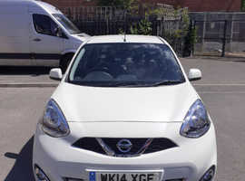Nissan Micra, 2014 (14) White Hatchback, Manual Petrol, 32,000 miles