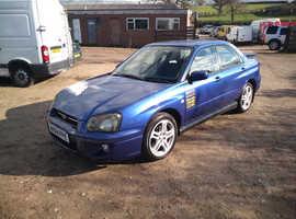 Subaru Impreza, 2004 (04) Blue Saloon, Manual Petrol, 132,000 miles