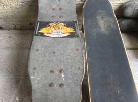 Two vintage skate boards