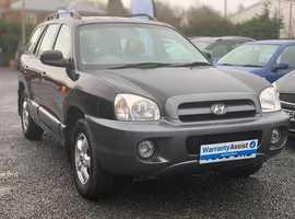 Hyundai Santa Fe, 2006 (06) Black Estate, Manual Diesel, 94,000 miles