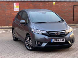 Honda Jazz, 2017 (67) Grey Hatchback, 1.3L Cvt Petrol, 34,570 miles, 2 Years Dealer Warranty