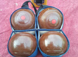 Vintage bowling balls with plaque included for sale