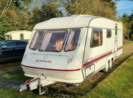 4 birth touring caravan available for hire in cornwall