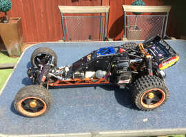 HPI BAJA 5B PETROL WITH ZENOAH G320RC ENGINE AND COMPLETE  ALLOY DIFF