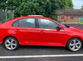 Skoda Rapid, 2013 (13) Red Hatchback, Manual Petrol, 34,500 miles