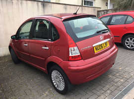 Citroen C3, 2006 (56) Red Hatchback, Automatic Petrol, 53,490 miles