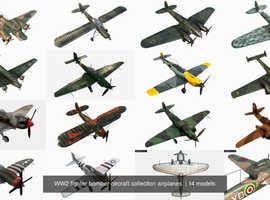 ww2 model metal planes
