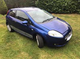 Fiat Grande Punto, 2008 (57) Blue Hatchback, Manual Petrol, 84,760 miles