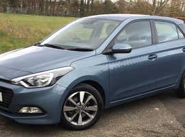 Hyundai i20, 2017 (17) Blue Hatchback, Manual Petrol, 24,750 miles