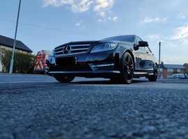Mercedes C CLASS, 2012 (62) Black Saloon, Automatic Diesel, 76,000 miles