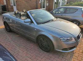 Audi A4, 2009 (09) Grey Convertible, Automatic Diesel, 117,000 miles