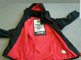 As new superdry coat xxs black and red