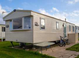 ABI Horizon 2014 static caravan at Allhallows, Kent. Private seller
