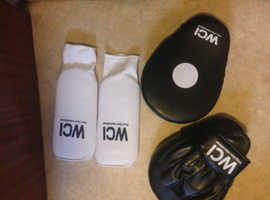 Punch pads and shin guards