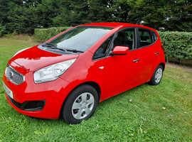 Kia Venga, 2011 (11) Red Hatchback, Manual Petrol.