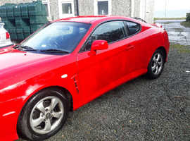 Hyundai Coupe, 2005 (05) Red Coupe, Manual Petrol, 78,000 miles