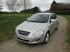 Kia Ceed, 2009 (59) Silver Hatchback, Manual Diesel, 69,838 miles