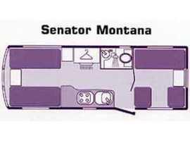 BAILEY SENATOR MONTANA 5 BERTH TWIN AXLE CARAVAN