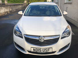 Vauxhall Insignia, 2015 (15) White Hatchback, Manual Diesel, 52,000 miles
