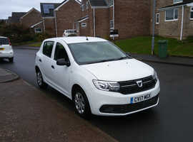 Dacia Sandero, 2017 (17) White Hatchback, Manual Diesel, 21,629 miles