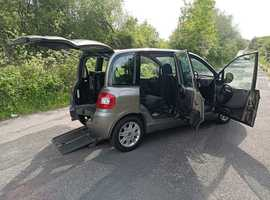 Brotherwood mobility up front wheelchair passenger Fiat Multipla, 2011/61, 1 owner, 54000 miles, free delivery, px welcome