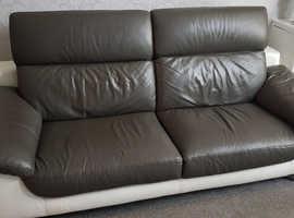 Leather 3 peice suite