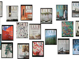 Collection of Elle Decoration magazines (august 2016 - february 2018)