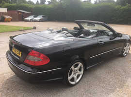 Mercedes Clk, 2006 (06) Black Convertible, Automatic Petrol, 114,000 miles