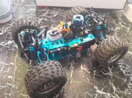 Bug crusher pro big rig version Nitro rc buggy 4WD complete set up