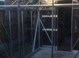 Elite 8x6ft high eave safety glass greenhouse