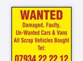 cash for scrap cars and vans in Huddersfield