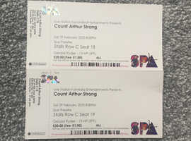 Two Tickets for Count Arthur Strong at Bridlington Spa