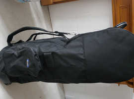 GOLF TRAVEL COVER-CASE     FOR FULL SIZE GOLF BAG WITH  SET  GOLF CLUBS   £30.  V G CONDITION