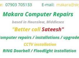 Computer repairs / CCTV installation / RING doorbell installation