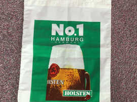 Rare, unused, vintage 1970's Breweriana, Holsten carrier bag